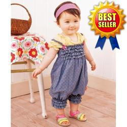 baby Head belt+ baby romper with round dots