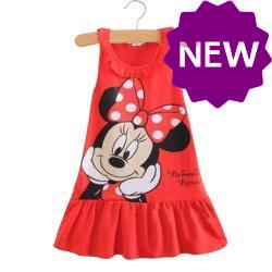 Lovely Kids Baby Girls Minnie Mouse Party Dress Vest Skirt Toddler Clothes