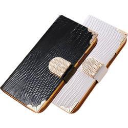 محفظة جلدية من الكريستال فاخرة لجوال سامسونج جالاكسي S4/i9500