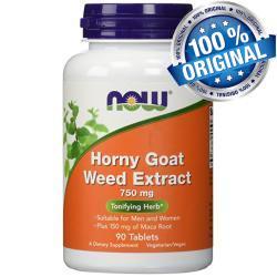 عشبة راعى الغنم الامريكية المنشطة والمقوية جنسياً Horny Goat Weed 750 MG