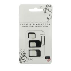 nano SIM Card Adapter 4 in 1 micro sim adapter with Eject Pin Key