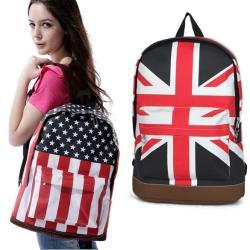 شنطة انيقة نوعين:علم بريطانيا - وعلم امريكا
