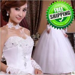 فستان  من الدانتيل فستان الزفاف