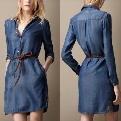 فستان نسائي من الجينز قطعة واحدة