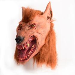 قناع الذئب من المطاط مخيف للكبار