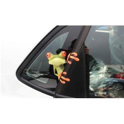 ملصق للسيارة الضفدع المضحك للنافذة,ملصق مائي ثلاثي الابعاد