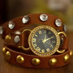 ساعة يد نسائية  من جلد البقر ماركة SG